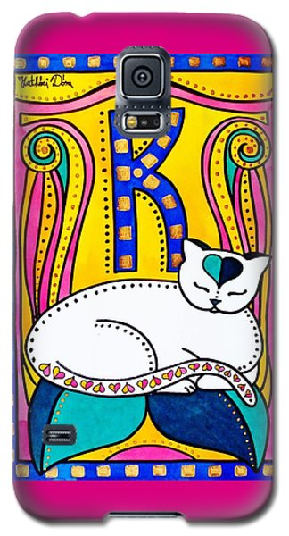 Peace And Love - Cat Art By Dora Hathazi Mendes Galaxy S5 Case