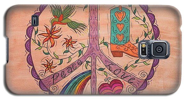 Peace And Love Western Style Galaxy S5 Case by Susie WEBER
