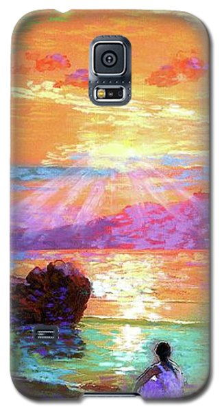 School Galaxy S5 Case - Peace Be Still Meditation by Jane Small