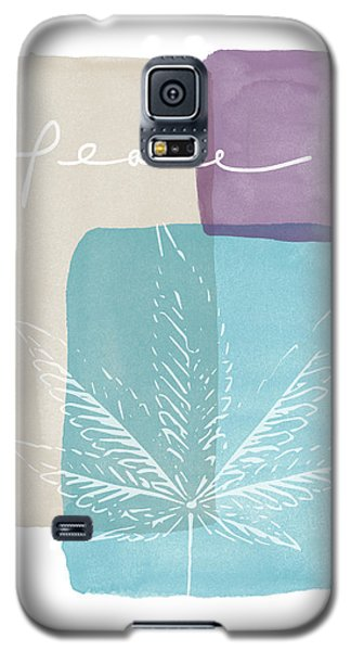 Peace Cannabis Leaf Watercolor- Art By Linda Woods Galaxy S5 Case by Linda Woods