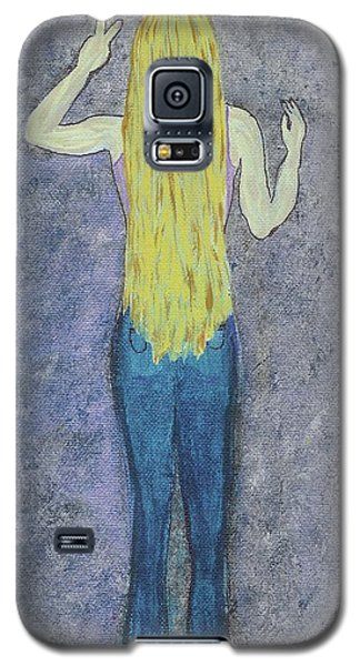 Galaxy S5 Case featuring the mixed media Peace by Desiree Paquette