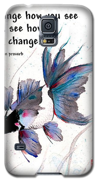 Peace In Change With Zen Proverb Galaxy S5 Case