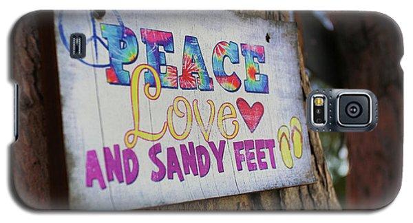 Peace Love And Sandy Feet Galaxy S5 Case