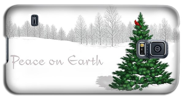 Galaxy S5 Case featuring the digital art Peace On Earth by Scott Ross