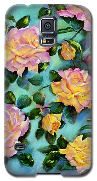 Galaxy S5 Case featuring the pastel Peace Opus by Ann Peck