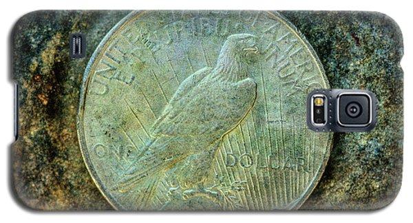 Galaxy S5 Case featuring the digital art Peace Silver Dollar Reverse by Randy Steele