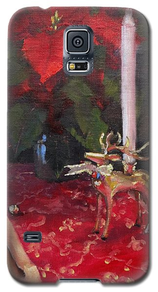 Galaxy S5 Case featuring the painting Peace To All by Laura Lee Zanghetti