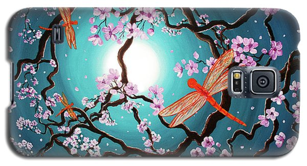 Peace Tree With Orange Dragonflies Galaxy S5 Case