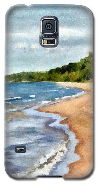 Peaceful Beach At Pier Cove Ll Galaxy S5 Case