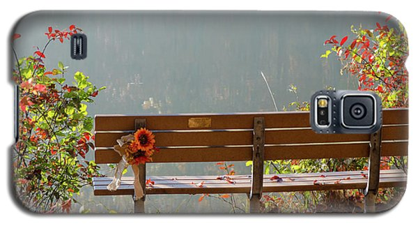 Galaxy S5 Case featuring the photograph Peaceful Bench by George Randy Bass