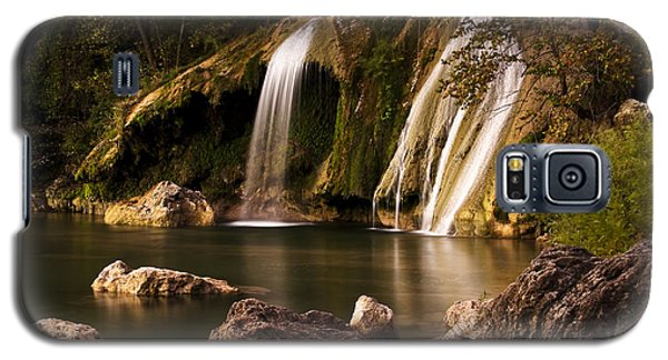 Galaxy S5 Case featuring the photograph Peaceful Day At Turner Falls by Tamyra Ayles