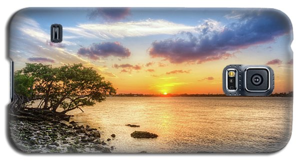Galaxy S5 Case featuring the photograph Peaceful Evening On The Waterway by Debra and Dave Vanderlaan