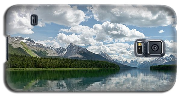 Galaxy S5 Case featuring the photograph Peaceful Maligne Lake by Sebastien Coursol