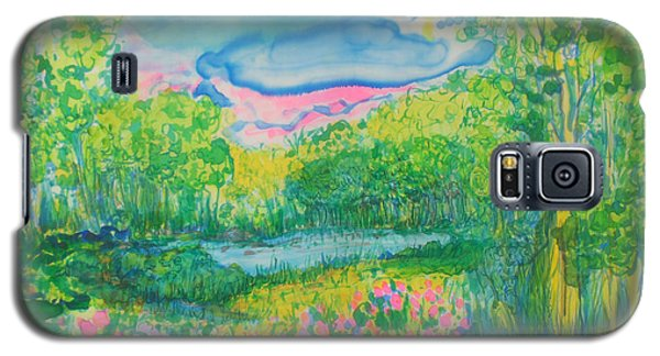 Galaxy S5 Case featuring the painting Peaceful Moments by Susan D Moody