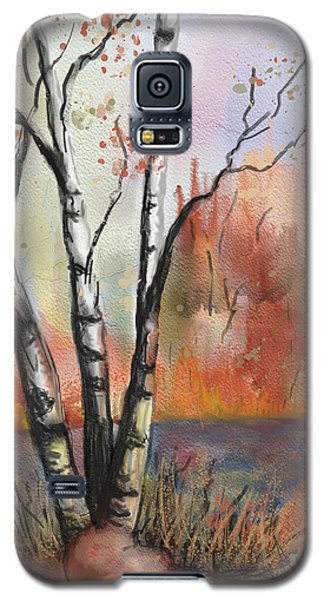 Galaxy S5 Case featuring the painting Peaceful River by Annette Berglund
