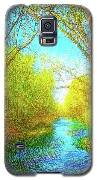 Peaceful River Spirit Galaxy S5 Case by Joel Bruce Wallach
