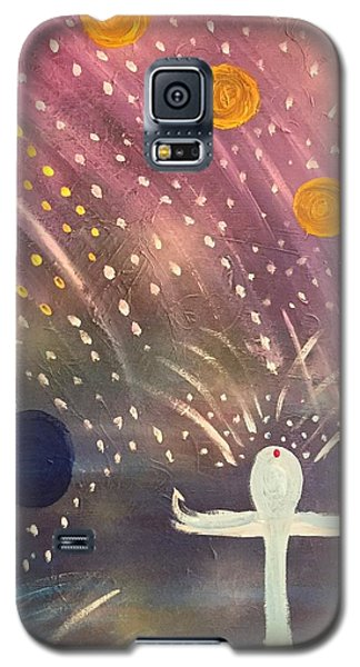 Galaxy S5 Case featuring the painting Peaceful  by Samimah Houston
