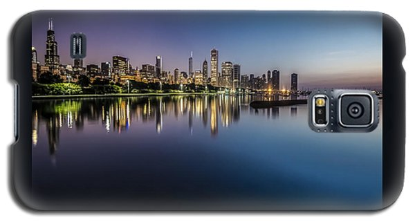 Peaceful Summer Dawn Scene On Chicago's Lakefront Galaxy S5 Case