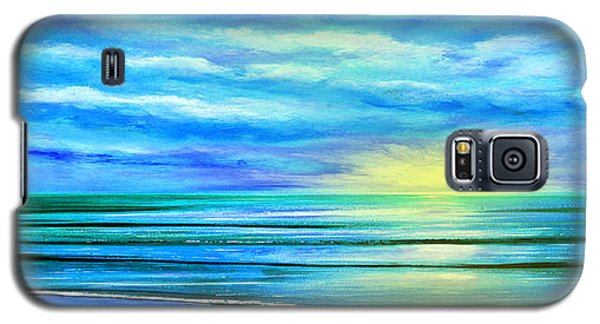 Peacefully Blue - Panoramic Sunset Galaxy S5 Case