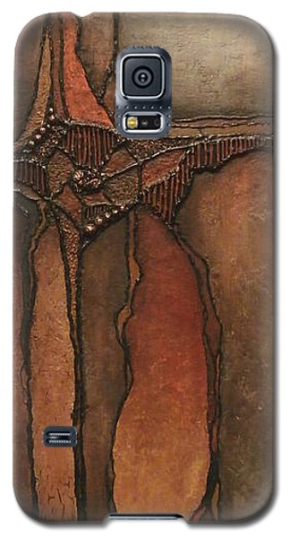 Galaxy S5 Case featuring the painting Peacekeeper by Buck Buchheister
