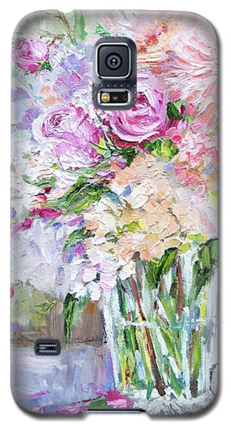 Galaxy S5 Case featuring the painting Peach And Pink Bouquet by Jennifer Beaudet