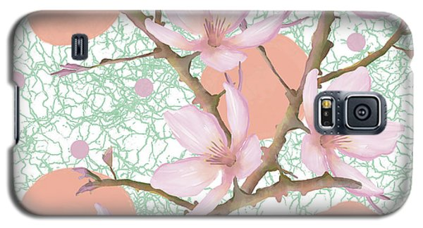 Peach Blossom Pattern Galaxy S5 Case