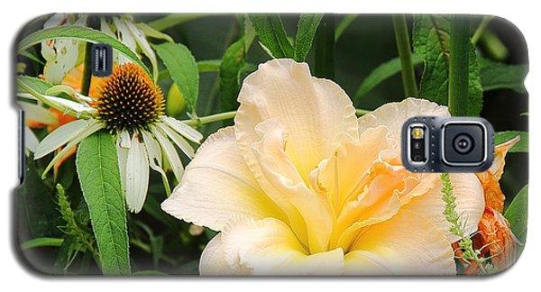 Peach Day Lily Galaxy S5 Case