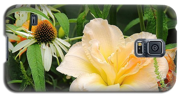 Peach Day Lily Galaxy S5 Case