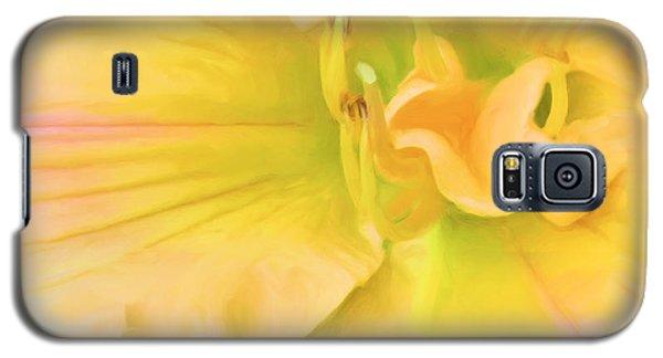 Peach Lily Galaxy S5 Case