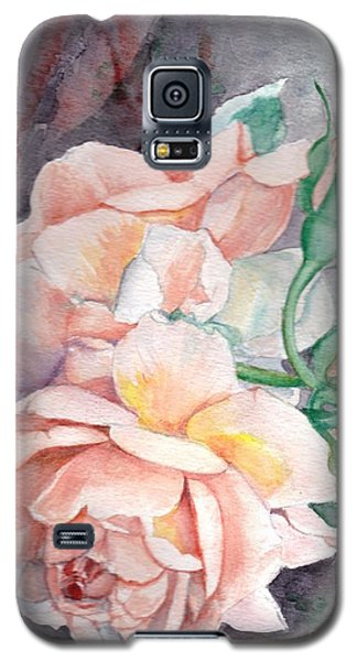 Peach Perfect - Painting Galaxy S5 Case by Veronica Rickard