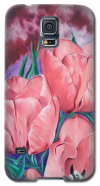 Perennially Perfect  Peach Pink Tulips Galaxy S5 Case