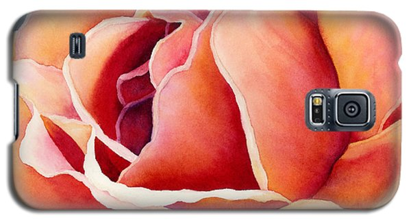 Galaxy S5 Case featuring the painting Peach Rose by Hailey E Herrera