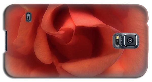 Peach Rose Galaxy S5 Case