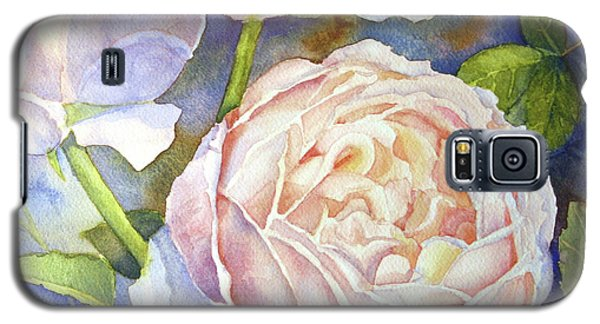 Galaxy S5 Case featuring the painting Peach Roses by Bonnie Rinier
