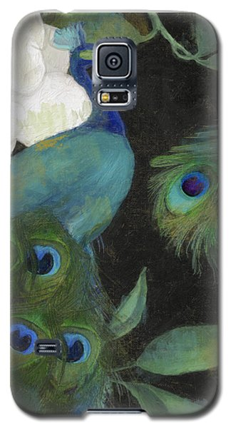Peacock Galaxy S5 Case - Peacock And Magnolia II by Mindy Sommers