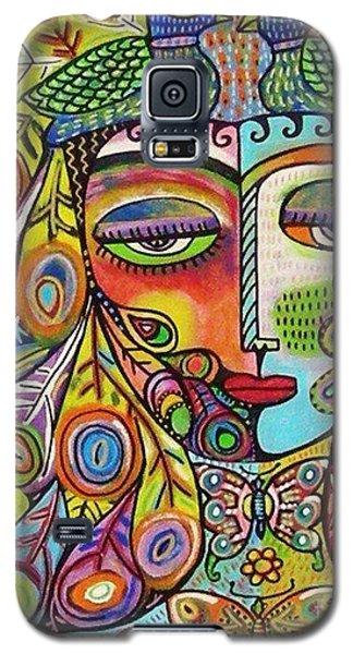 Peacock Emerald Lovebirds Goddess Galaxy S5 Case