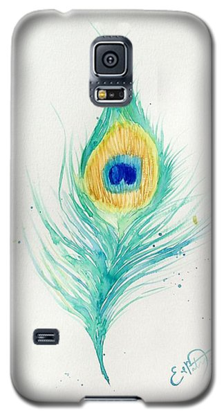 Peacock Feather 2 Galaxy S5 Case by Oddball Art Co by Lizzy Love