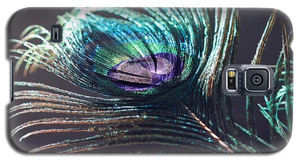 Peacock Feather In Sun Light Galaxy S5 Case