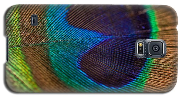 Peacock Feather Macro Detail Galaxy S5 Case