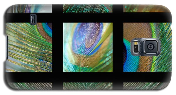 Peacock Feather Mosaic Galaxy S5 Case by Lisa Knechtel