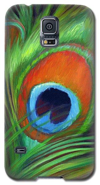 Peacock Feather Galaxy S5 Case by Nancy Tilles