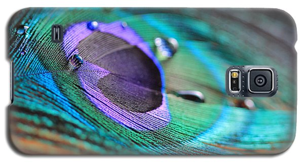 Peacock Feather With Water Drops Galaxy S5 Case