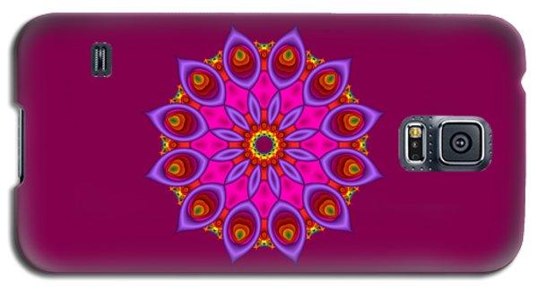 Peacock Fractal Flower II Galaxy S5 Case