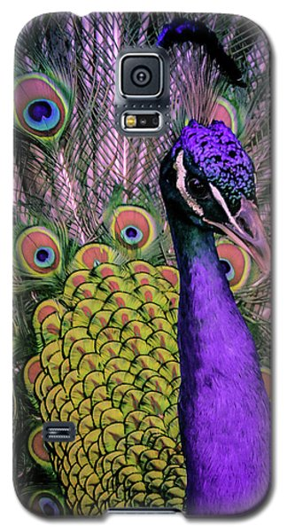 Peacock In Purple 2 Galaxy S5 Case