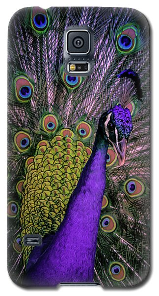 Peacock In Purple Galaxy S5 Case