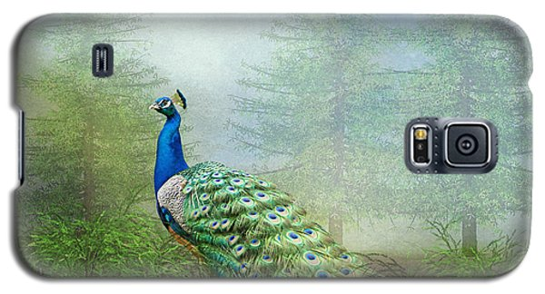 Galaxy S5 Case featuring the photograph Peacock In The Forest by Bonnie Barry