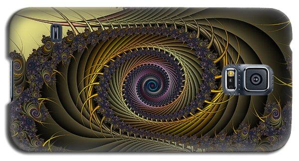 Galaxy S5 Case featuring the digital art Peacock by Karin Kuhlmann