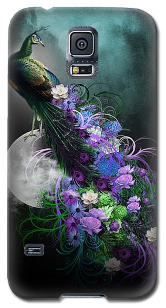 Peacock Of  Flowers Galaxy S5 Case