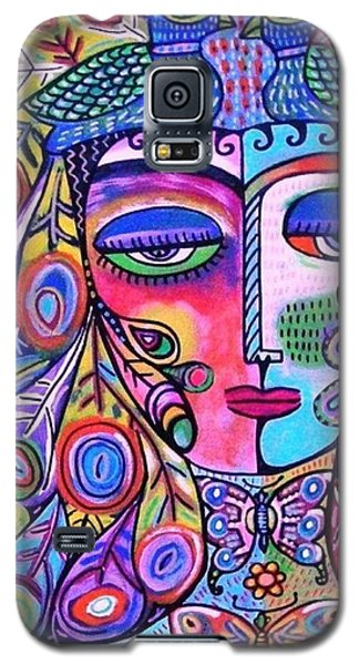 Peacock Pink Butterfly Goddess Galaxy S5 Case