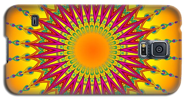Peacock Sun Mandala Fractal Galaxy S5 Case